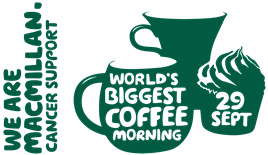 Macmillan Coffee Morning on 29th September at Leicester Marina