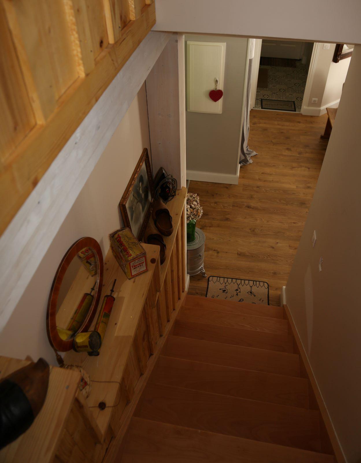 Escalier vers étage
