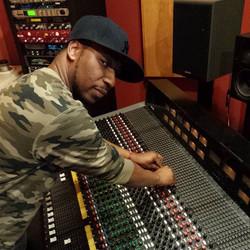 Dash on the mixing board.jpg