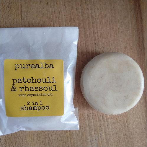 Patchouli & Rhassoul shampoo bar