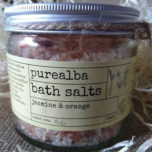 Jasmine & Orange bath salts