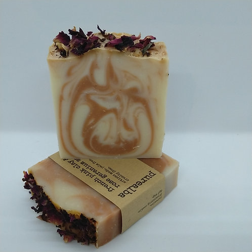 Rose Geranium & French Pink Clay soap