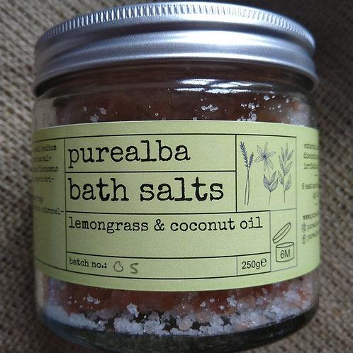 Lemongrass & Coconut Oil bath salts