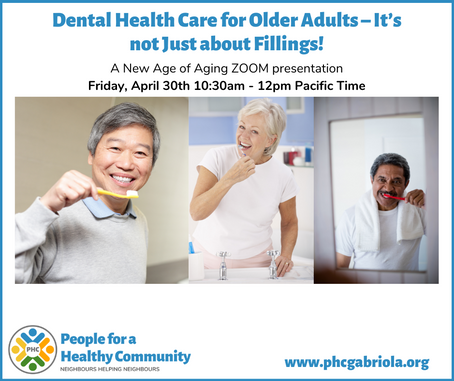 Dental Health Care for Older Adults - It's not Just about Fillings!