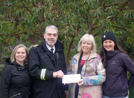 Donation from the crew of the Quinsam & Nanaimo Harbour