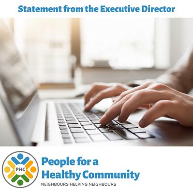 Executive Director Statement regarding COVID-19