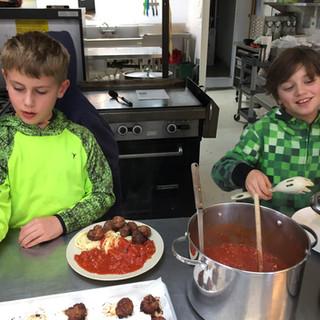 Kids learning food skills