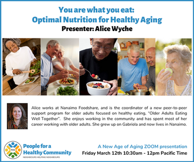 You are what you eat: Optimal Nutrition for Healthy Aging