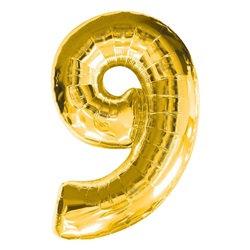 9 Rakam Gold Folyo Balon