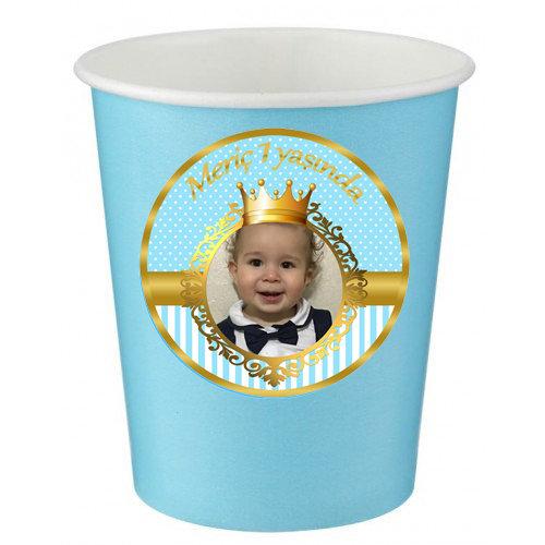 Prens Doğum Günü Karton Bardak-2