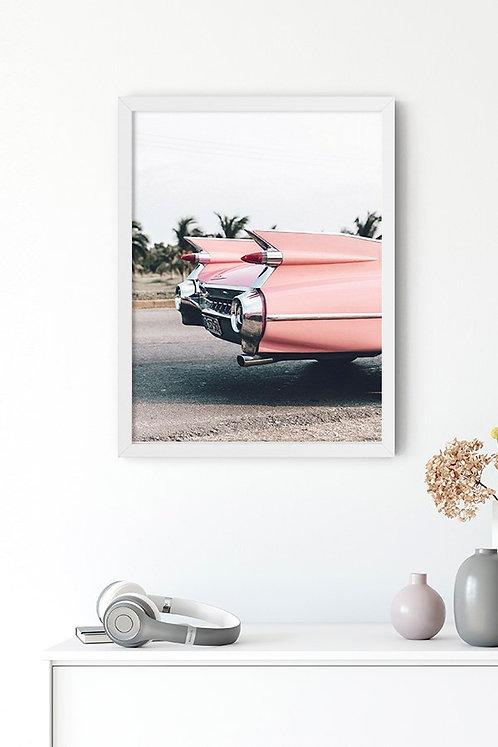Amerikan Arabası Tablo Poster