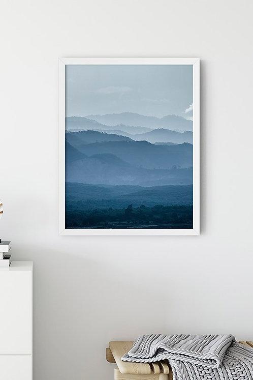 Dağ Manzarası Tablo Poster