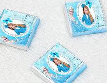 Frozen Karlar Ülkesi Temalı Doğum Günü Hediyelik Çikolata