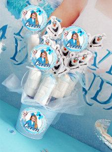 Frozen Karlar Ülkesi Temalı Doğum günü Marshmellow