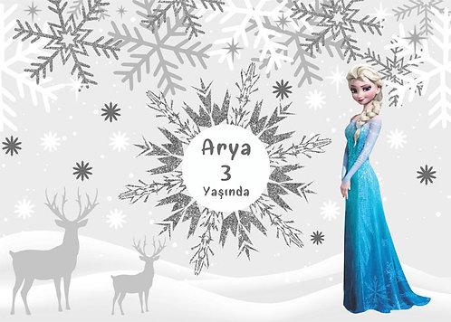 Elsa ve Kış Temalı Afiş 2