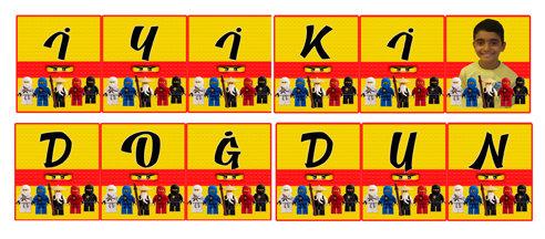 Lego Ninjago Doğum Günü Flama Bayrak