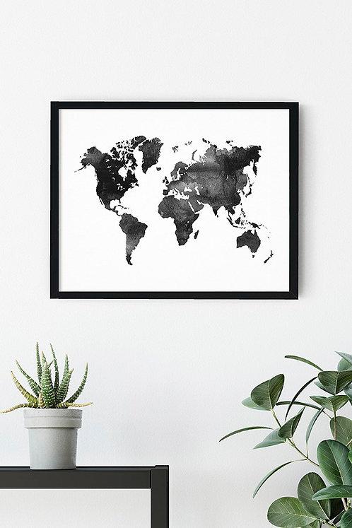 Dünya Haritası Tablo Poster