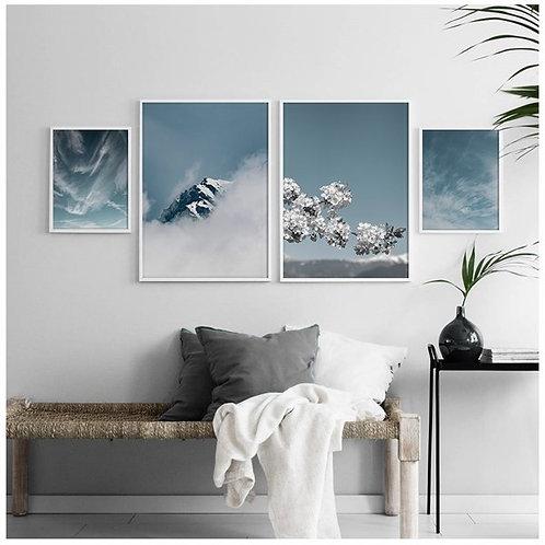Kış Tablo Poster Kanvas Seti