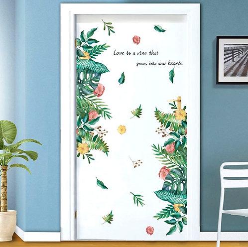 Tropikal Yapraklar Duvar Sticker Çıkartma