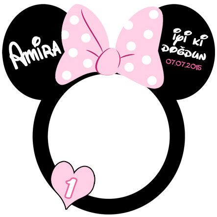 Minnie Mouse Temalı Hatıra Çerçevesi