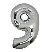 9 Rakam Gümüş Folyo Balon