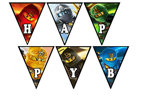 Lego Ninjago Doğum Günü Flama Bayrak 2