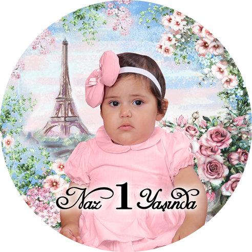 Paris Eiffel Temalı Doğum Günü Asma Dekor Süs Dönkart
