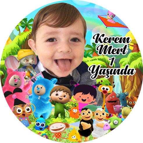 Baby Tv Temalı Doğum Günü Sticker Etiket