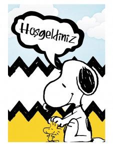 Snoopy Peanuts Temalı Karşılama Panosu