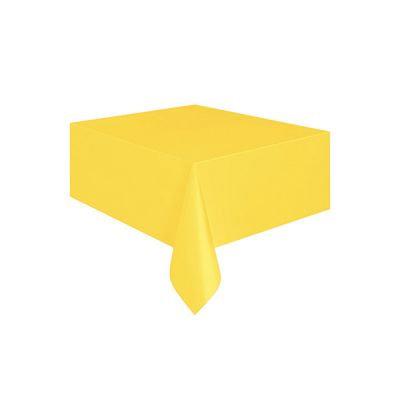 Sarı Masa Örtüsü Plastik