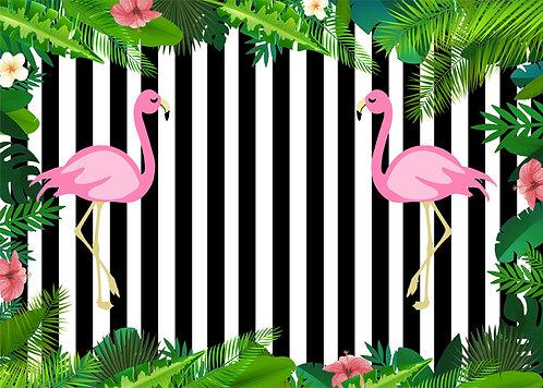 Flamingo Temalı Afiş