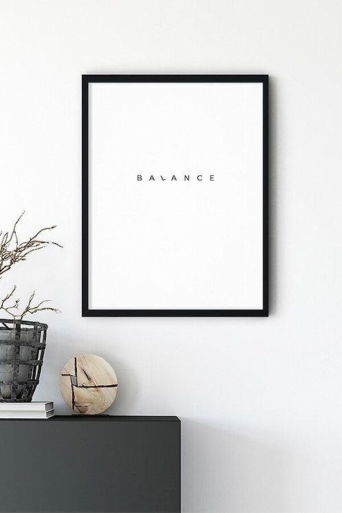 Balance Tablo Poster
