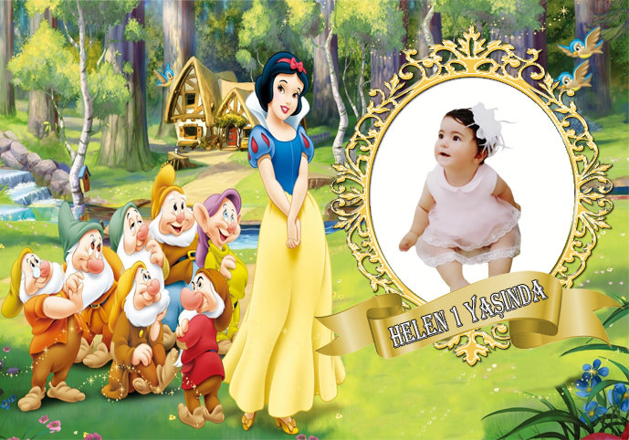 Pamuk Prenses Temalı Afiş 2