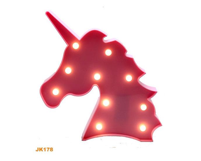 Unicorn Plastik Işık Pembe