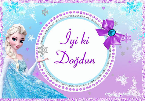 Frozen Karlar Ülkesi Temalı Doğum Günü Branda Afiş 3