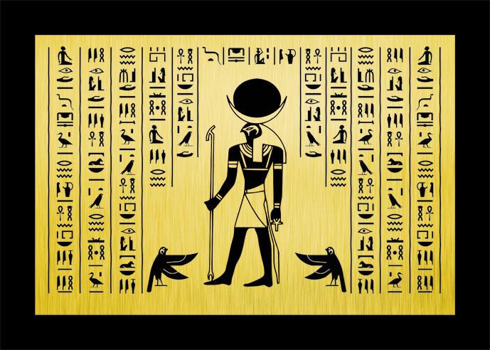 horus-antik-misir-hiyeroglif-dekorasyon-