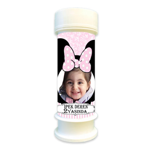 Minnie Mouse Temalı Doğum günü Hediyelik Köpük