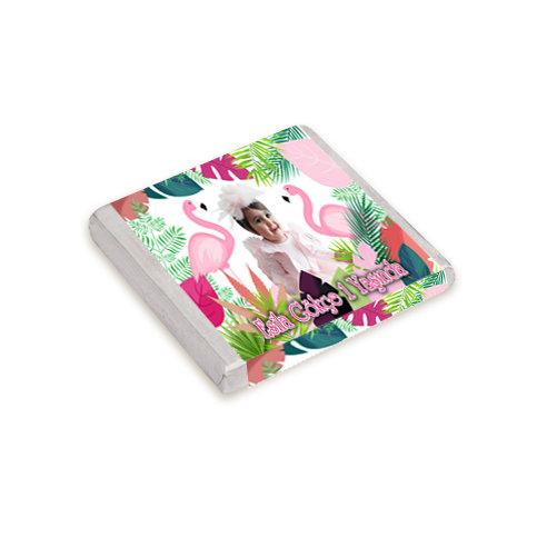 Flamingo Pembe Temalı Doğum Günü Hediyelik Çikolata