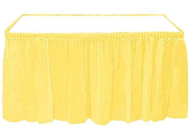 Sarı Masa Eteği Plastik