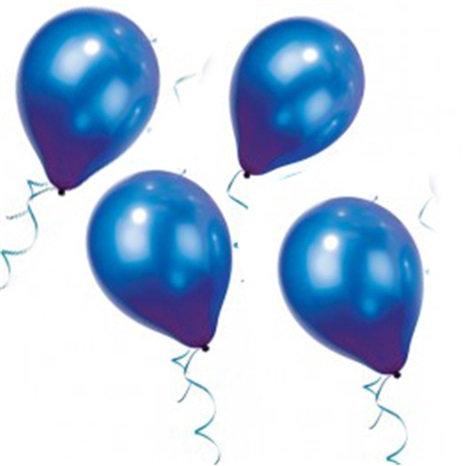 Metalik Lacivert Balon