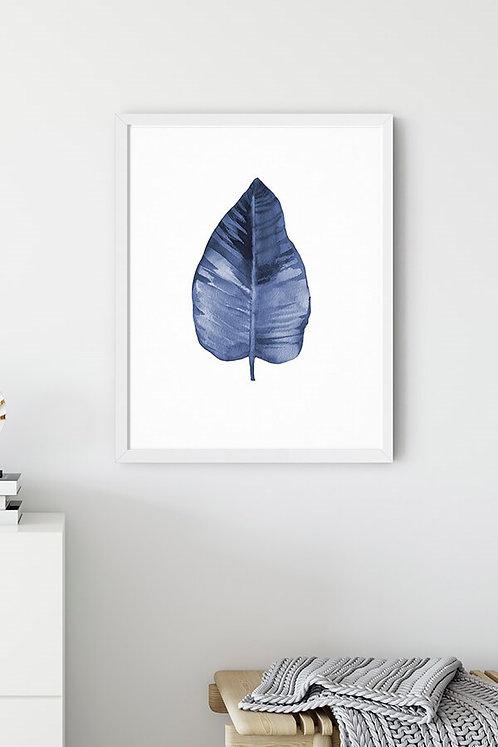 Blue Leaf 2 Tablo Poster