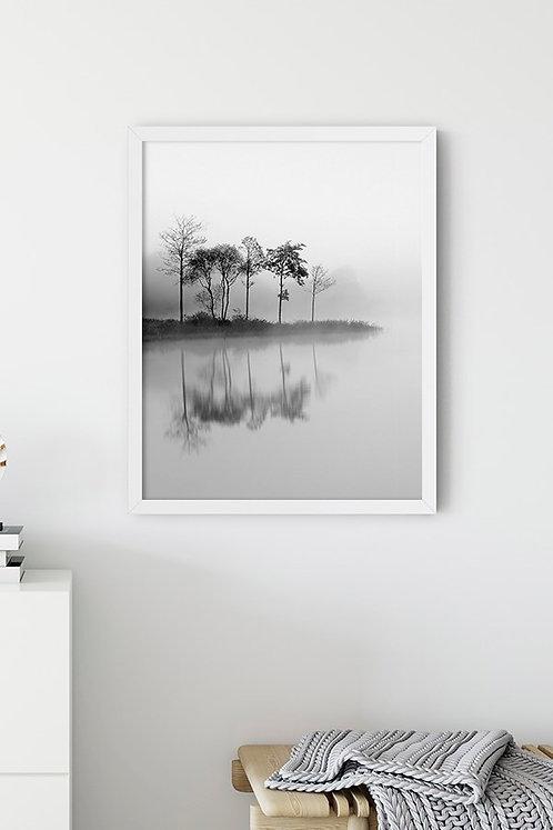 Göl Manzarası 8 Tablo Poster