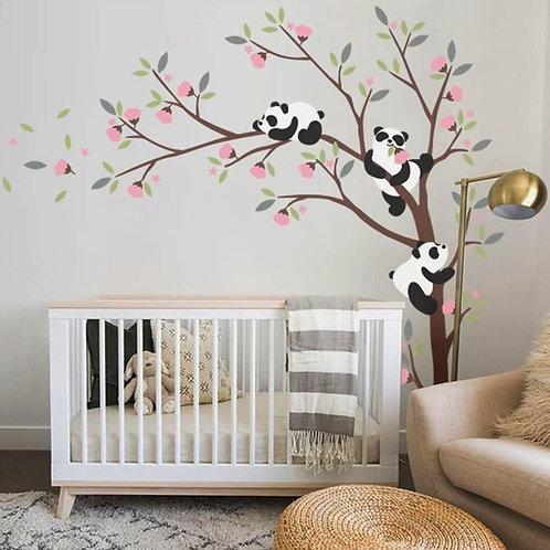 Koalalı Ağaç Duvar Sticker Çıkartma 2