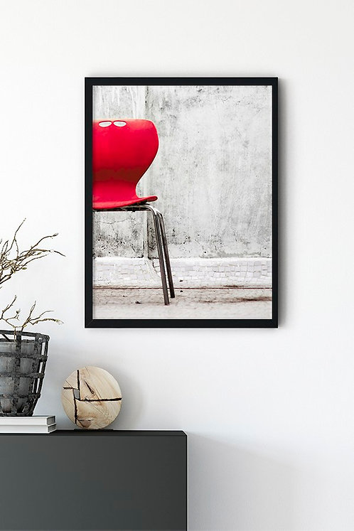 Kırmızı Sandalye Tablo Poster