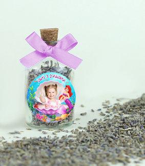 Deniz Kızı Ariel Temalı Doğum Günü Lavanta Şişesi