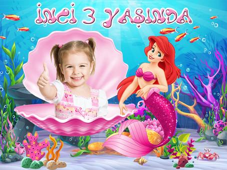 Küçük Deniz Kızı Ariel Temalı Doğum Günü Fiyatları