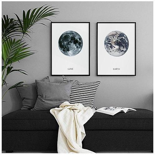 Cosmos 2li Tablo Poster Kanvas Seti