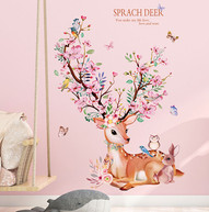 sevimli-geyik-cicekli-renkli-duvar-stick