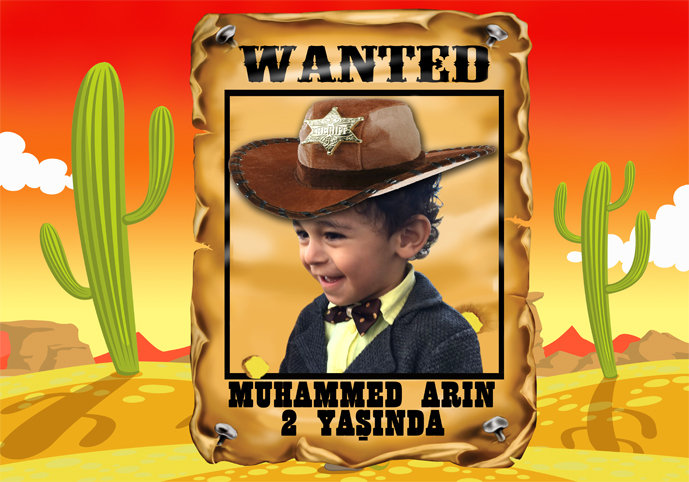 Kovboy Temalı Afiş 3