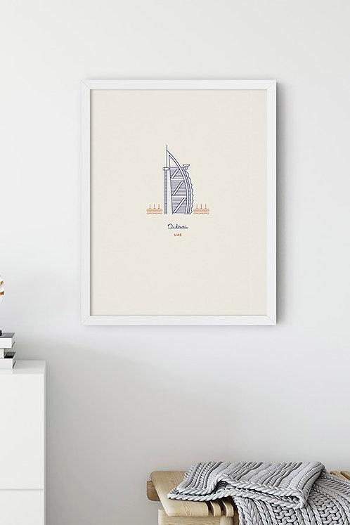 Dubai Simge Tablo Poster Kanvas